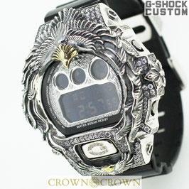G-SHOCK ジーショック カスタム DW-6900 DW6900-NB1 カスタムベゼルネイティブイーグル アクセサリー CROWNCROWN DW6900-109