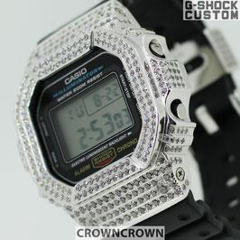 G-SHOCK ジーショック カスタム 腕時計 DW-5600 DW5600E-1 カスタムベゼル スワロフスキージルコニア 人気 ユニセックス ファッション CROWNCROWN DW5600-010