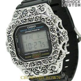 G-SHOCK ジーショック カスタム 腕時計 DW-5600 DW5600E-1 カスタム ベゼル SBT CROWNCROWN DW5600-015