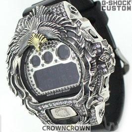 G-SHOCK ジーショック カスタム メンズ 腕時計 DW-6900 DW6900-NB1 カスタムベゼル ネイティブイーグル CROWNCROWN DW6900-107