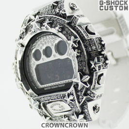 G-SHOCK ジーショック カスタム メンズ 腕時計 DW-6900 DW6900-NB1 カスタムベゼル 星スター CROWNCROWN DW6900-103