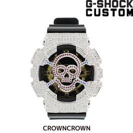 G-SHOCK ジーショック カスタム メンズ 腕時計 GA-110 GA110 GB-1 カスタムベゼル おしゃれ 芸能人 スカル ドクロ メンズ ファッション CROWNCROWN GA110-003
