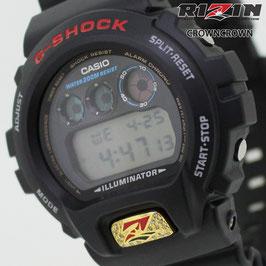 RIZIN FF collaborated by CROWNCROWNブランド保証付 オリジナル G-SHOCK カスタム ウォッチ DW-6900 DW6900-1V RIZIN-006一番人気