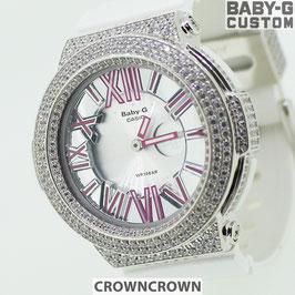 BABY-G  カスタム レディース 腕時計 レディース時計 BGA-160 BGA160-7B2 おしゃれ 芸能人 愛用 人気 ブランド カスタムベゼル CROWNCROWN BGA160-007