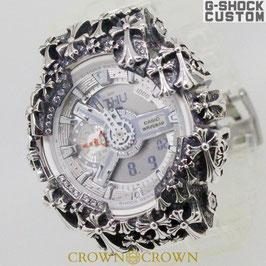 G-SHOCK カスタムスケルトン メンズ 腕時計 GA-110 GA110 CR-7A カスタムベゼル 十字架クロス スケルトン CROWNCROWN GA110-080