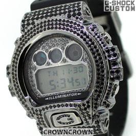 G-SHOCK ジーショック カスタム メンズ 腕時計 DW-6900 DW6900-1V カスタムベゼル ブラックキュービックFTIsland ホンギ 愛用 ファッション CROWNCROWN DW6900-017