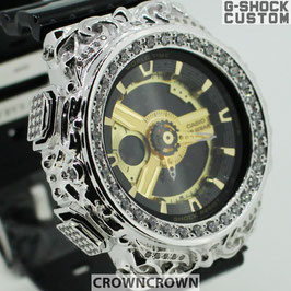 BABY-G ベビージー カスタム レディース 腕時計 レディース時計 BA110 BA110-LP7A 唐草シルバー人気 ブランド カスタムベゼル CROWNCROWN BA110-008