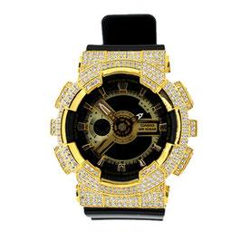 BABY-G ベビージー カスタムゴールド レディース 腕時計 レディース時計 BA110 BA110-LP7A スワロフスキージルコニア 人気 ブランド カスタムベゼル CROWNCROWN BA110-015