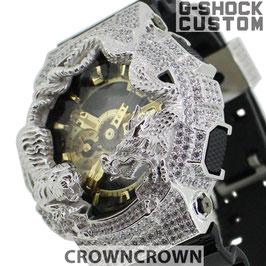 G-SHOCK  カスタム虎龍 メンズ 腕時計 GA-110 GA110 GB-1 カスタムベゼル おしゃれ 芸能人 龍 虎 ファッション CROWNCROWN GA110-058