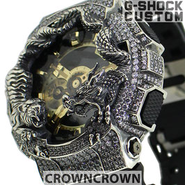 G-SHOCK  カスタム虎龍 メンズ 腕時計 GA-110 GA110 GB-1 カスタムベゼル おしゃれ 芸能人 龍 虎 ファッション CROWNCROWN GA110-057