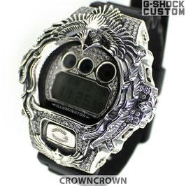G-SHOCK ジーショック カスタム メンズ 腕時計 DW-6900 DW6900-NB1 カスタムベゼル ネイティブイーグル CROWNCROWN DW6900-102