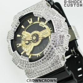 G-SHOCK ジーショック カスタム メンズ キラキラ 腕時計 GA-110 GA110 GB-1 カスタムベゼル おしゃれ 芸能人 ファッション CROWNCROWN GA110-062