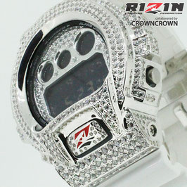 RIZIN FF collaborated by CROWNCROWN ブランド保証付オリジナル G-SHOCK カスタムウォッチ DW-6900 DW6900-NB7 RIZIN-001
