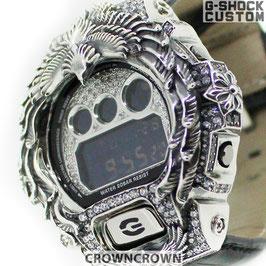 G-SHOCK  カスタムネイティブイーグル メンズ 腕時計 DW-6900 DW6900-NB1 カスタムベゼル  シルバー 人気 メンズ ファッション CROWNCROWN DW6900-101