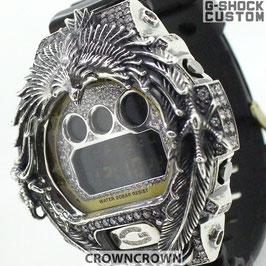 G-SHOCK ジーショック カスタム メンズ 腕時計 DW-6900 DW6900-NB1 カスタムベゼル ネイティブイーグルCROWNCROWN DW6900-106