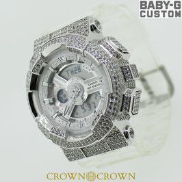 BABY-G ベビージー カスタム レディース 腕時計 レディース時計 BA-110 BA-110CR 7A おしゃれ  芸能人 愛用 人気 ブランド カスタムベゼル CROWNCROWN BA110-022