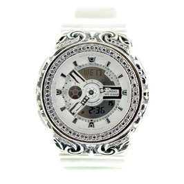 BABY-G ベビージー カスタム レディース 腕時計 レディース時計 BA110 BA110-LP7A 唐草シルバー 人気 ブランド カスタムベゼル CROWNCROWN BA110-007