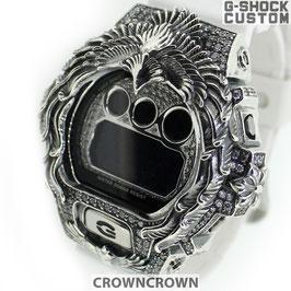 G-SHOCK  カスタムネイティブイーグル メンズ 腕時計 DW-6900 DW6900-NB7 カスタムベゼル ネイティブイーグル シルバー 人気 メンズ ファッション CROWNCROWN DW6900-098