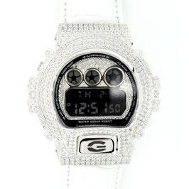 G-SHOCK  カスタムクロコ革 メンズ 腕時計 DW-6900 DW6900-NB-7 カスタムベゼル おしゃれ シルバー 人気 メンズ ファッション CROWNCROWN DW6900-041