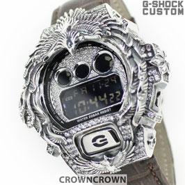 G-SHOCK カスタム ネイティブイーグルメンズ 腕時計 DW-6900 DW6900-NB1 カスタムベゼル おしゃれ シルバー 人気 メンズ ファッション CROWNCROWN DW6900-099
