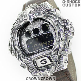 G-SHOCK カスタム ネイティブイーグルメンズ 腕時計 DW-6900 DW6900-NB1 カスタムベゼル ネイティブイーグルシルバー 人気 メンズ ファッション CROWNCROWN DW6900-099