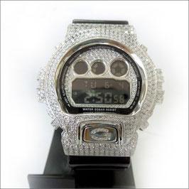 G-SHOCK ジーショック カスタム メンズ 腕時計 DW-6900 DW6900-NB-1 カスタムベゼル おしゃれ シルバー 人気 メンズ ファッション CROWNCROWN DW6900-084