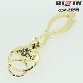 RIZIN FF collaborated by CROWNCROWN ブランド保証付オリジナル アクセサリー キーホルダ RIZIN-009