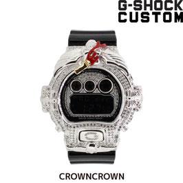 《サマーセール値引き》G-SHOCK ジーショック カスタム メンズ 腕時計 DW-6900 DW6900-1V カスタムベゼル おしゃれ ゴールド メンズ ファッション CROWNCROWN DW6900-022