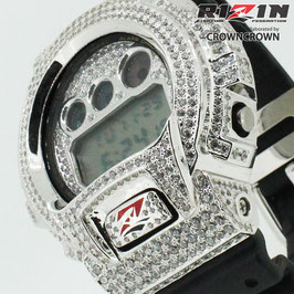 RIZIN FF collaborated by CROWNCROWN オリジナル G-SHOCK カスタム ウォッチ DW-6900 DW6900-1V RIZIN-003