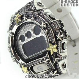 G-SHOCK ジーショック カスタム メンズ 腕時計 DW-6900 DW6900-NB1 カスタムベゼル 星スター CROWNCROWN DW6900-104