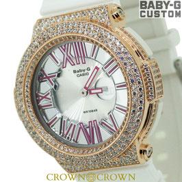BABY-G  カスタム ピンク石モデル 腕時計 レディース時計 BGA-160 BGA160-7B2 おしゃれ 芸能人 愛用 人気 ブランド カスタムベゼル CROWNCROWN BGA160-014