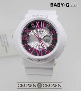 BABY-G  カスタム ピンク石モデル 腕時計 レディース時計 BGA-160 BGA160-7B2 おしゃれ 芸能人 愛用 人気 ブランド カスタムベゼル CROWNCROWN BGA160-008