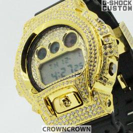 G-SHOCK ジーショック カスタム メンズ 腕時計 DW-6900 DW6900-1V カスタムベゼル おしゃれ  CROWNCROWN DW6900-092
