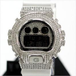 G-SHOCK ジーショック カスタム メンズ 腕時計 DW-6900 DW6900-NB-7 カスタムベゼル おしゃれ シンプル シルバー メンズ ファッション CROWNCROWN DW6900-047