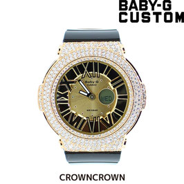 BABY-G ベビージー カスタム レディース 腕時計 レディース時計 BGA-160 BGA160-1BJF おしゃれ 芸能人 人気 ブランド カスタムベゼル CROWNCROWN BGA160-003