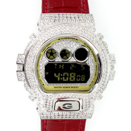 G-SHOCK ジーショック カスタム メンズ 腕時計 DW-6900 DW6900-CB-1JF カスタムベゼル おしゃれ シルバー 人気 メンズ ファッション CROWNCROWN DW6900-040