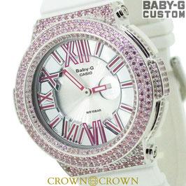 BABY-G  カスタム ピンク石モデル 腕時計 レディース時計 BGA-160 BGA160-7B2 おしゃれ 芸能人 愛用 人気 ブランド カスタムベゼル CROWNCROWN BGA160-013