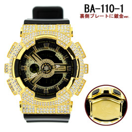 BABY-G ベビージー カスタム レディース 腕時計 レディース時計 BA110 BA110-LP7A ゴールド 人気 ブランド カスタムベゼル CROWNCROWN BA110-009