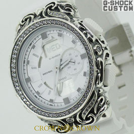 G-SHOCK ジーショック カスタム メンズ 腕時計 GA-150 GA150-7A カスタムベゼル 唐草シルバー ブランド 人気 メンズ ファッション CROWNCROWN GA150-005