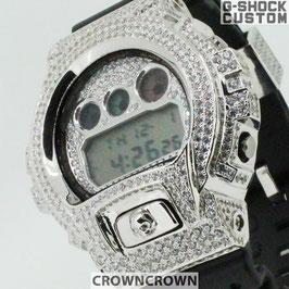 G-SHOCK ジーショック カスタム メンズ 腕時計 DW-6900 DW6900-1V カスタムベゼル おしゃれ  CROWNCROWN DW6900-091