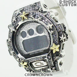 G-SHOCK ジーショック カスタム DW-6900 DW6900-NB1 カスタムベゼル星スター CROWNCROWN DW6900-110