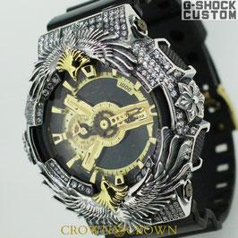 G-SHOCK ジーショック カスタム 腕時計 GA-110 GA110 GB-1 カスタムベゼル ネイティブイーグル アクセサリー CROWNCROWN GA110-078