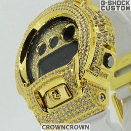 G-SHOCK ジーショック カスタム メンズ 腕時計 DW-6900 DW6900 NB-7 カスタムベゼル おしゃれ  CROWNCROWN DW6900-090