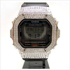 G-SHOCK ジーショック カスタム 腕時計 DW-5600 DW5600E-1 カスタムベゼル スワロフスキージルコニア ブランド 人気 ユニセックス ファッション CROWNCROWN DW5600-006