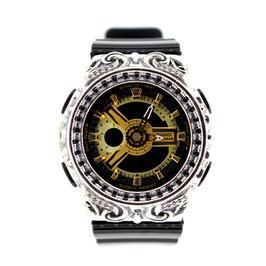 BABY-G ベビージー カスタム レディース 腕時計 レディース時計 BA110 BA110-LP7A 唐草シルバーカスタムベゼル CROWNCROWN BA110-003