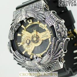 G-SHOCK ジーショック カスタム 腕時計 GA-110 GA110 GB-1 カスタムベゼル ネイティブイーグル アクセサリー CROWNCROWN GA110-076