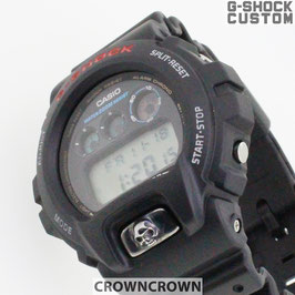 G-SHOCK ジーショック カスタム メンズ 腕時計 DW-6900 DW6900-1Vカスタムベゼル おしゃれ 十字架 クロス メンズ ファッション CROWNCROWN DW6900-086