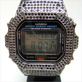 G-SHOCK ジーショック カスタム 腕時計 DW-5600 DW5600E-1 カスタムベゼル ブラックキュービック 人気 ユニセックス ファッション CROWNCROWN DW5600-004