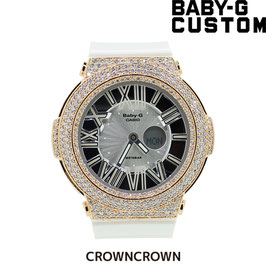 BABY-G ベビージー カスタム レディース 腕時計 レディース時計 BGA-160 BGA160-7B1 おしゃれ 芸能人 愛用 人気 ブランド カスタムベゼル CROWNCROWN BGA160-001