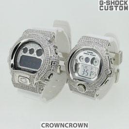 バレンタイン ホワイトデー プレゼント G-SHOCK CUSTOM ジーショック カスタム ベイビージー カップル ペアー DW6900-NB7 BG6900-7 CROWNCROWN COUPLE-002